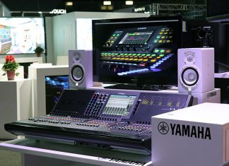 Mediatech 2019 Stage and Audio Works stand