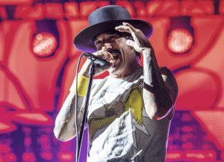 Red Hot Chili Peppers perform during Abu Dhabi Showdown Week