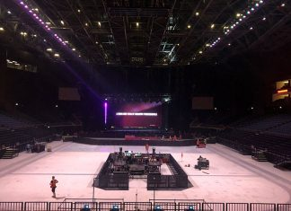Westlife concert and the Coca-Cola Arena Dubai by Unusual Rigging