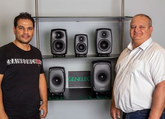 Genelec's Arun Kumar and GSL Professional's Adrian Curtis.