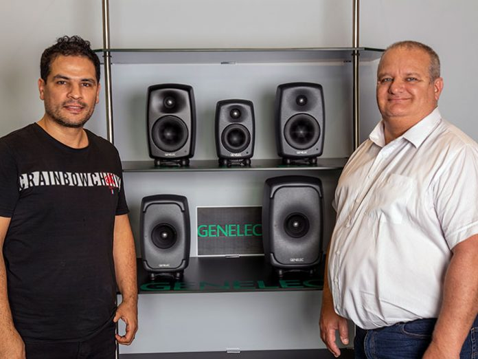 Genelec's Arun Kumar and GSL Professional's Adrian Curtis.